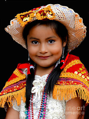 Smiling Jesus Photograph - Cuenca Kids 447 by Al Bourassa