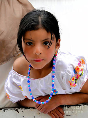 Special Necklace Photograph - Cuenca Kids 448 by Al Bourassa
