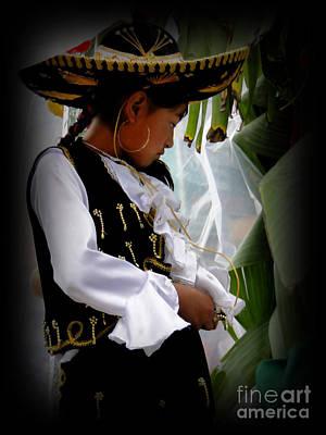 Gold Earrings Photograph - Cuenca Kids 450 by Al Bourassa
