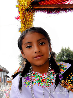 Special Necklace Photograph - Cuenca Kids 463 by Al Bourassa