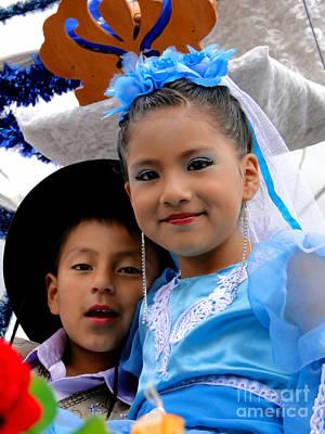 Senorita Photograph - Cuenca Kids 470 by Al Bourassa