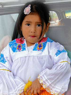 Barrette Photograph - Cuenca Kids 487 by Al Bourassa