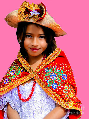 Special Necklace Photograph - Cuenca Kids 494 by Al Bourassa