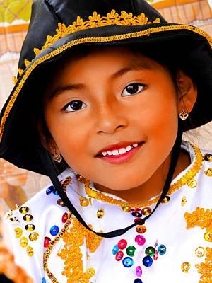 Christmas Eve Photograph - Cuenca Kids 496 by Al Bourassa