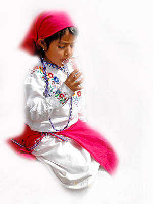 Special Necklace Photograph - Cuenca Kids 507 by Al Bourassa
