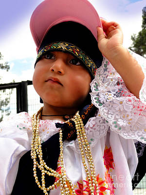 Special Necklace Photograph - Cuenca Kids 530 by Al Bourassa