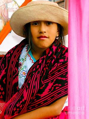 Spanish Shawl Photograph - Cuenca Kids 537 by Al Bourassa