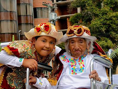 Christmas Eve Photograph - Cuenca Kids 546 by Al Bourassa