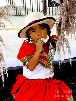 Christmas Eve Photograph - Cuenca Kids 555 by Al Bourassa