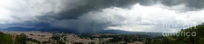 Cuenca Storm Panorama Art Print by Al Bourassa