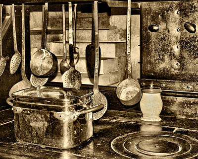 Brown Tones Photograph - Cuisine At Chenonceau by Nikolyn McDonald