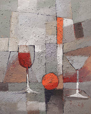 Stillife Painting - Cuisine Grey by Lutz Baar