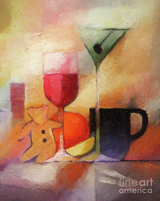 Painting - Cuisine by Lutz Baar