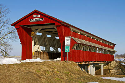 Music Royalty-Free and Rights-Managed Images - Culbertson or Treacle Creek Covered Bridge by Jack R Perry