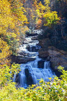 Photograph - Cullasaja Falls North Carolina by John Haldane