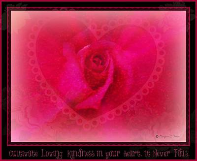 Digital Art - Cultivate Loving Kindness by Maryann  DAmico