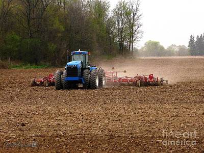 Painting - Cultivating The Soil In May by J McCombie