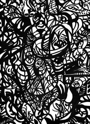 Culture Clutter Print by Urban Hippie Brownie Cat