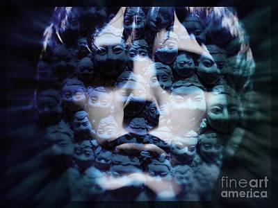Recently Sold - Surrealism Digital Art - Culture Shock Blue by Elizabeth McTaggart