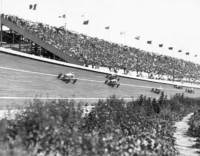 Spectators Photograph - Culver City Speedway Action by Underwood Archives