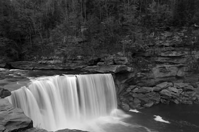 Photograph - Cumberland Falls B/w by Mark Bowmer