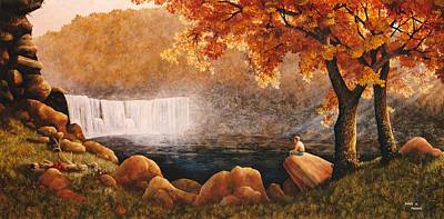 Painting - Cumberland Falls by Duane R Probus