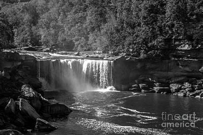 Cumberland Falls Five Bw Art Print by Ken Frischkorn