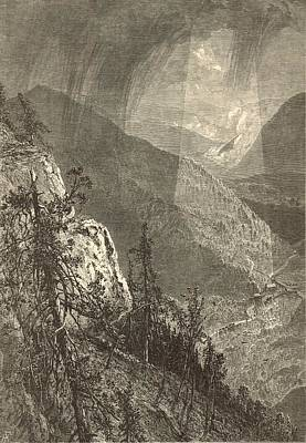 Cumberland Gap From Eagle Cliff 1872 Engraving By Harry Fenn Art Print by Antique Engravings