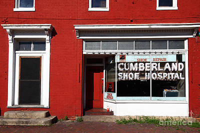 Shoe Repair Photograph - Cumberland Shoe Hospital by James Brunker