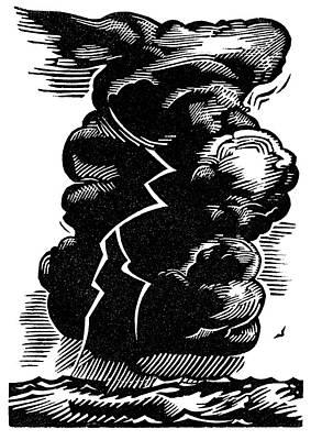 Linoleum Photograph - Cumulonimbus Thunderstorm by Gary Hincks