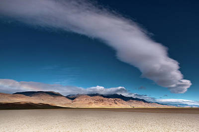 Alvord Desert Wall Art - Photograph - Cumulus Cloud Over Dry Alvord Lake And by Witold Skrypczak