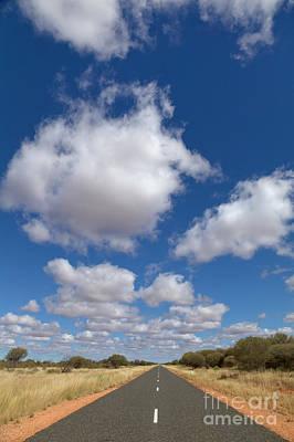 Photograph - Clouds And Desert Road by Yva Momatiuk John Eastcott