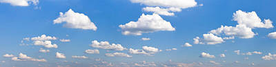 Cumulus Clouds In The Sky, Baden Art Print by Panoramic Images