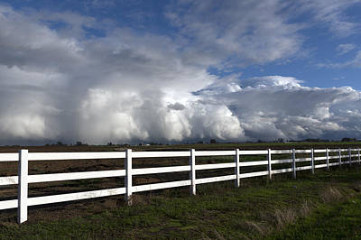 Cumulus Clouds Over Stockton Art Print