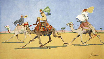 Caricature Drawing - Cup And Ball-the Camels Favourite Game by Lance Thackeray