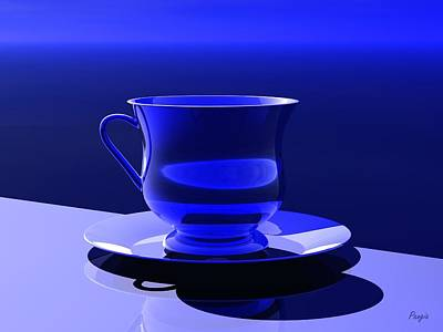 Digital Art - Cup And Saucer by John Pangia