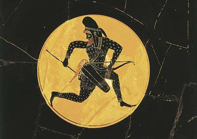 Ceramics Photograph - Cup Depicting A Persian Archer. 6th C by Everett