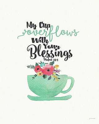 Tea Cups Painting - Cup Of Blessings by Jo Moulton