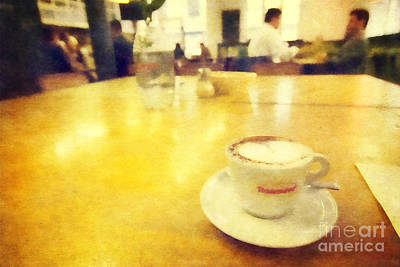 Journal Digital Art - Cup Of Cappuccino At Journal Canteen On Flinders Lane Melbourne by Beverly Claire Kaiya
