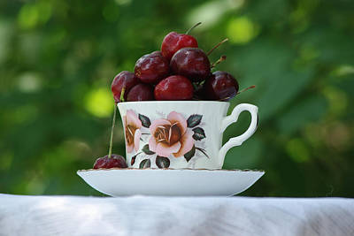 Photograph - Cup Of Cherries by Robyn Stacey