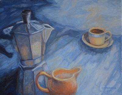 Painting - Cup Of Coffee by Enrique Ojembarrena