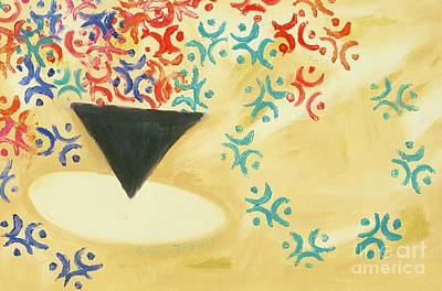 Online Shopping Painting - Cup Of Coffee by Karen Francis