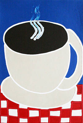 Cup Of Coffee Art Print by Matthew Brzostoski