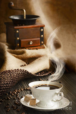 Cup Of Coffee Art Print by Mythja  Photography