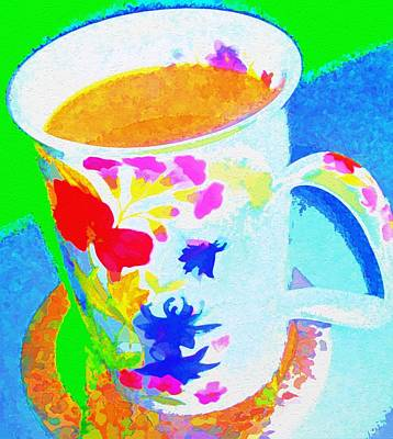 Digital Art - Cup Of Coffee by Peggy Gabrielson