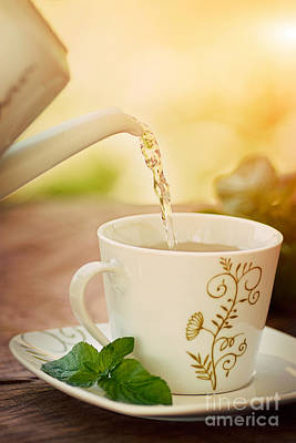 Cup Of Tea Art Print by Mythja  Photography