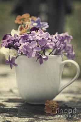 Cut Flowers Photograph - Cup Of Wildflowers by Edward Fielding