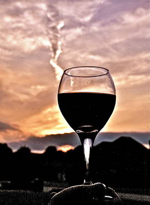 Cup Of Wine Original by Hugh Peralta