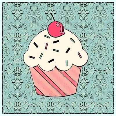 Mixed Media - Cupcake  1 by Lisa Piper