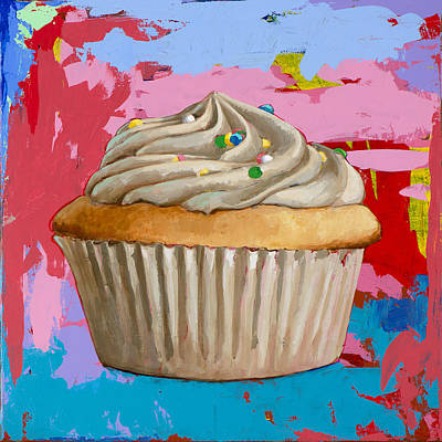 Birthday Painting - Cupcake #4 by David Palmer